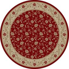Imperial Charlemagne Red Serenity Area Rug | Wayfair
