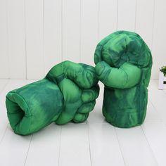 13'' Incredible Hulk Smash Hands or Spider Man Plush Gloves Performing Props Toys Set of 2pcs