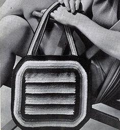 Spanish Bag pattern by The Spool Cotton Company Handbags On Sale, Luxury Handbags, Fashion Handbags, Purses And Handbags, Vintage Purses, Vintage Bags, Purse Patterns, Crochet Patterns, Crochet Ideas