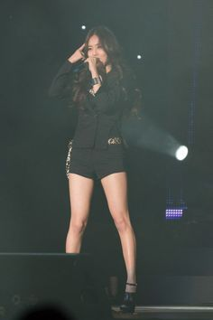 Black Tailored Blazer with All Black Fashion of Heo Gayoon