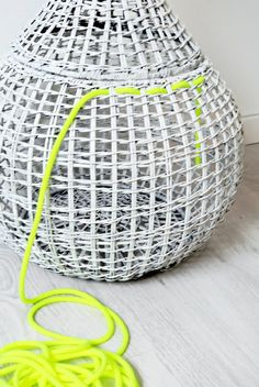 Basket with neon.