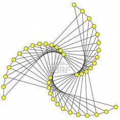 String art - twisted triangle shape: