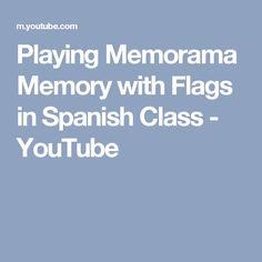 My First Graders are learning about the South American map. Here we are playing Memory with the flags, matching flag to country name. I love games like this . Spanish Culture, Spanish Class, Flags, Memories, Youtube, Memoirs, Spanish Classroom, Souvenirs, National Flag