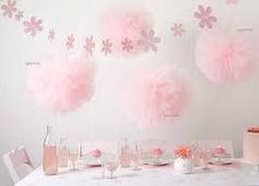 Birthday Table Decorations Pink Pom Poms 41 Ideas For 2019 Ballerina Birthday, Girl Birthday, Décoration Candy Bar, Tulle Poms, Pom Poms, Pink Tulle, Tulle Balls, Tulle Tutu, Baby Shower Planner
