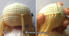 Как сделать волосы куколке амигуруми. Любительницы вязания крючком куколок амигуруми часто сталкиваются с проблемой создания волос и прически для куколки.