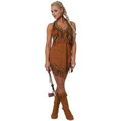 Damen Indianerin Kostüm ca 35€  Kostüm-Idee zu Karneval, Halloween & Fasching