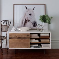 Reclaimed Wood + Lacquer Media Console | west elm