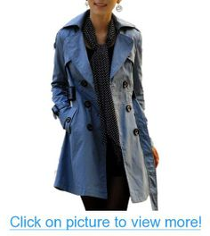 Hee Grand Women's Double-breasted Beltted Long Coat Trench Long Jacket Coat #Hee #Grand #Womens #Double_breasted #Beltted #Long #Coat #Trench #Jacket