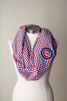 Chicago Cubs MLB Infinity Scarf by ThriftyGirlDesign on Etsy