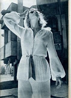 Фото, автор tania.rise4ka на Яндекс.Фотках Vintage Knitting, Fashion History, Crochet Clothes, Knit Crochet, Crochet