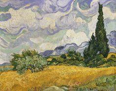 Vincent van Gogh - Weizenfeld mit Zypressen