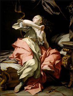 Ludovico Mazzanti, The Death of Lucretia, 1737, LACMA