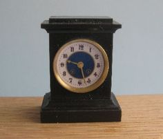 French Mantel clock Black by Malcolm Hall
