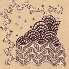 Ein Zentangle aus den Mustern LaBel, Y-Flip, Shamber, gezeichnet von Ela Rieger, CZT