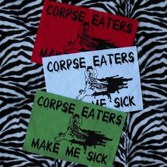 Corpse Eaters Make Me Sick Patch Animal Rights Patch Back Patch Vegan Patch Vegetarian Animal Liberation Patch Vegan Patches Punk Patch by raygunindustries on Etsy https://www.etsy.com/listing/156294798/corpse-eaters-make-me-sick-patch-animal