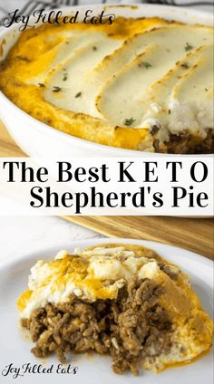 This Shepherd's Pie Recipe with Mashed Cauliflower is an easy, low-carb casserole that your family will love. Traditional shepherd's pie is a casserole made with a layer of cooked meat and vegetables in a savory gravy. This keto shepherd's pie is m Keto Foods, Ketogenic Recipes, Ketogenic Diet, Shepherds Pie Rezept, Low Carb Shepherds Pie, Keto Shepherd's Pie, Pie Recipes, Cooking Recipes, Dessert Recipes