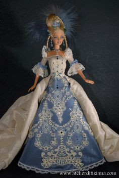 Barbie Gowns, Barbie Clothes, Vintage Barbie, Vintage Dolls, Tudor Costumes, Beautiful Barbie Dolls, Different Dresses, Barbie Collection, Barbie And Ken