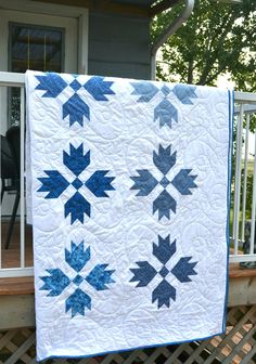 Blue White Queen Quilt Made to Order Traditional by MagpieQuilts, $575.00