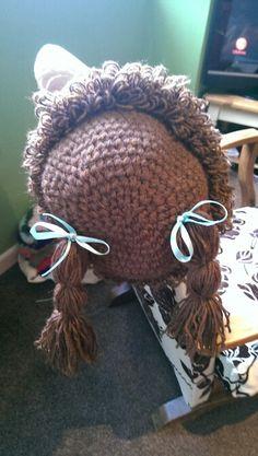 Dolls hair hat