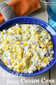 Cream corn doesn't get much better than this. This recipe for World's Best Cream corn is a quick and easy side dish recipe that is perfect for a summer potluck or picnic. Plus, any recipe with bacon is a winner in our book.