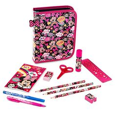 Disney Minnie Mouse Zip-Up Stationery Kit | Disney StoreMinnie Mouse Zip-Up Stationery Kit - Minnie is forever a symbol of cuteness, and it's easy to see why on the cover of this Minnie Mouse Zip-Up Stationery Kit. The colorful design includes Figaro, making this the purr-fect back to school essential for every artistic student.