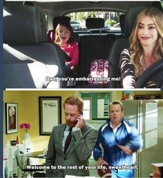 Modern Family, Mitchell, Cam, and Lily