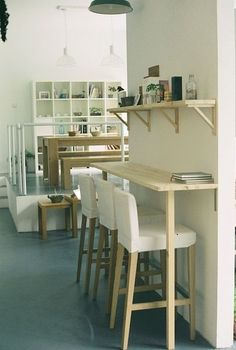 """kitchen bar ideas against wall small spaces. Explore """" kitchen bar ideas """" on Pinterest. 