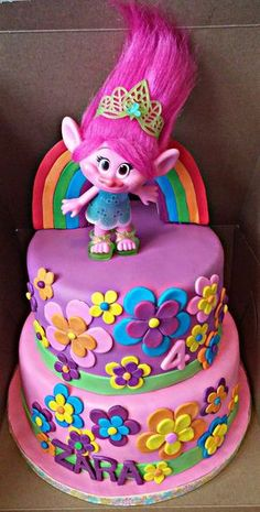 Image result for princess poppy trolls cakes