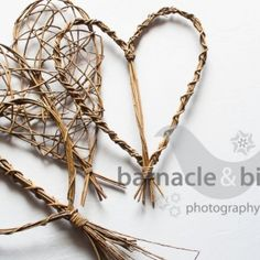 Willow hearts by www.wayswithwillow.co.uk - providing handmade natural products and willow craft workshops