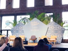 Create & Cultivate NYC – As Told By Ash and Shelbs - corporate event design Tv Set Design, Stage Set Design, Church Stage Design, Booth Design, Stage Backdrop Design, Church Interior Design, Corporate Event Design, Event Decor, Event Ideas