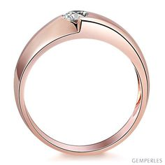 847e7671e05 Bague homme duo d or rose serti d un diamant de 0.50ct