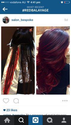 Beautiful dark red cherry cola hair inspo