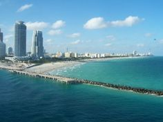 South Pointe jetty and beach- LOVE this part of South Beach