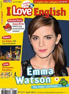 I Love English n°217 - Avril 2014 - Las Vegas city of extremes / Shneider, Mike - London marathon / Ormal-Grenon, Lesley - Emma Watson - Angry birds