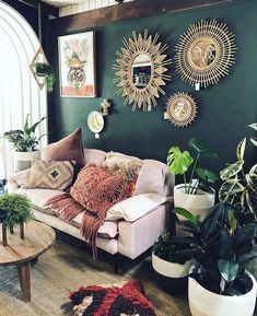 a whole lotta jungaliciousness coming from our friends over at eclectic boho hippie living room