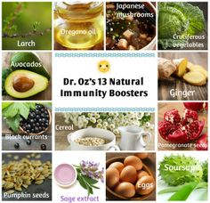 ☆ Dr. Oz's 13 Natural Immunity Boosters ☆  http://www.doctoroz.com/slideshow/boost-your-immunity-naturally?gallery=true