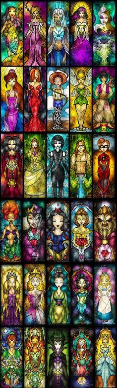 Los vitraux de Disney
