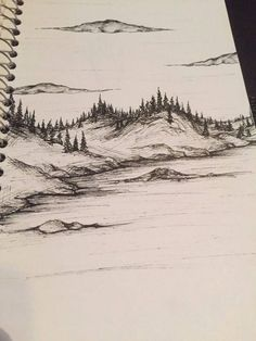 A landscape I did a while ago with my microns. Check out my Instagram: his.legacy #LandscapeDrawing
