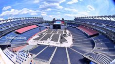 Gillette Stadium in Foxborough, Massachusetts USA