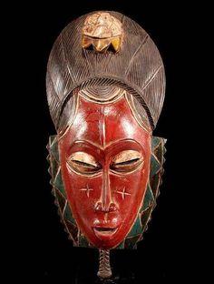 Afrikaans vruchtbaarheids masker - BAULE - Ivoorkust
