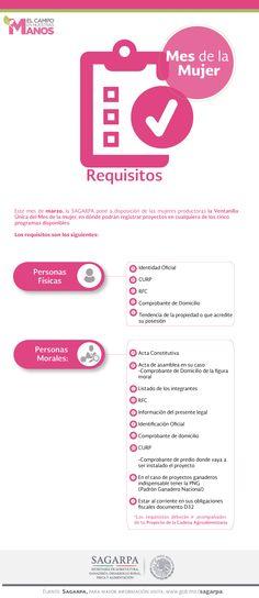 Requisitos Programa de apoyo El Campo en nuestra manos. Mes de la mujer. SAGARPA SAGARPAMX