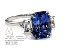 Leon Mege Saphire Ring.  Mark will have to go see Ann about this....