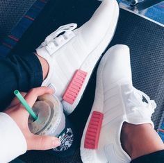 adidas Originals NMD in White Pink / White Pink // Photo: Tennis Shoes Outfit, Nike Tennis Shoes, Adidas Originals, Adidas Nmds, Adidas Sneakers, Tenis Nmd, Nike Tennisschuhe, Outfit Work, Fashion Shoes