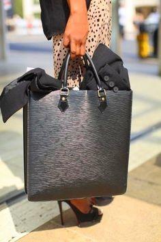 Louis Vuitton Black Epi Leather Ombre Tote