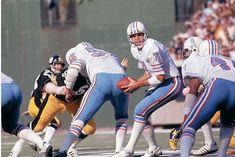 Dan Pastorini, Houston at Pittsburgh Houston Oilers, Texans, Pittsburgh Steelers, Nfl Football, Back In The Day, Dan, Retro, American, Retro Illustration