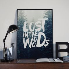 Lost in the Woods poster mock up