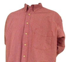 Eddie Bauer Flannel Casual Shirt Mens Size XLT Ultra Long Button Front Red Plaid