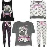 Primark ladies pug dog pugs   kisses pyjama separates pyjamas uk 6 - 20 pj s f51fd64db
