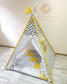 Купить или заказать Вигвам , домик для детей в интернет магазине на Ярмарке Мастеров. С доставкой по России и СНГ. Материалы: хлопок. Размер: Основание 120:120<br /> Высота 150