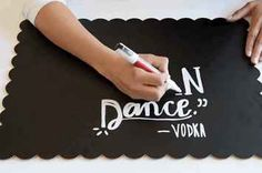 Here's A Genius Trick For Making A Fancy Chalkboard Sign